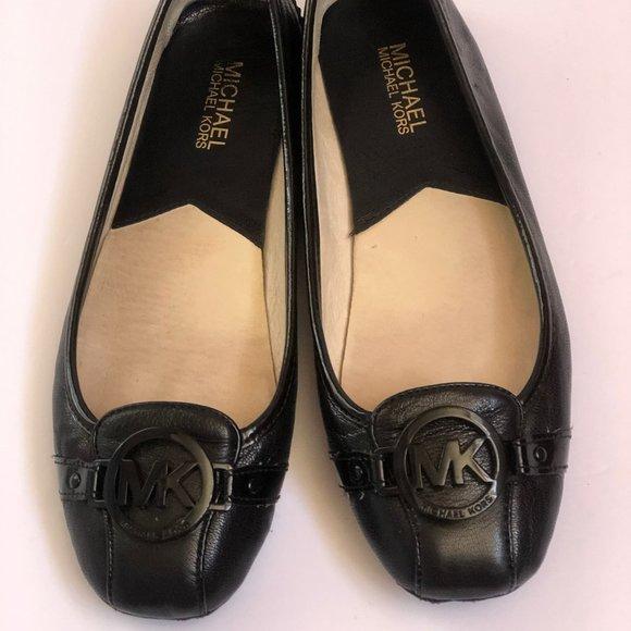Michael Kors Womens Shoes 81/2 M Black Leather
